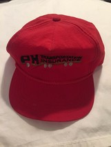 PH Transportation Insurance Vintage Trucker Snapback Hat Cap Yupoong Red... - $17.32