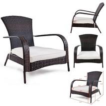 Adirondack Chair Wicker Patio Chairs Outdoor Garden Porch Rattan Seat w ... - $89.72