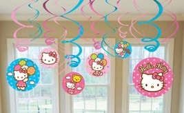 Hello Kitty Balloon Dreams Swirl Decorations 12 Piece Birthday Party Sup... - $5.30