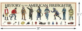 History of the American Firefighter - Poster - $27.34