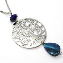 Necklace Silver 925, Lapis Lazuli, Pendant Locket Tree of Life image 3