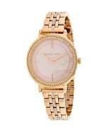 Michael Kors MK3643 Rose Gold inthia Bracelet Womens Watch - $102.86