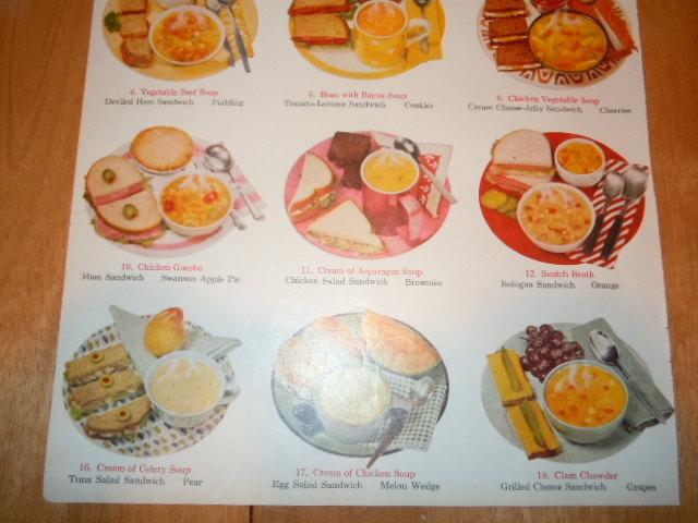 Vintage Campbell's Soup 21 Soup N Sandwich Lunches Print Magazine Advertisement  image 3