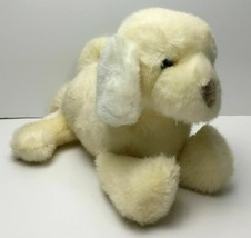 "Vintage Baby Gund Light Yellow & White Puppy Dog Plush Lovey Rattle 10"" - $49.45"
