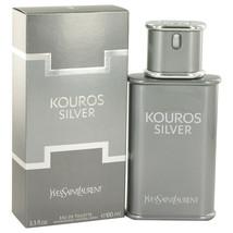 Kouros Silver by Yves Saint Laurent Eau De Toilette Spray for Men - $63.99