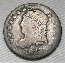 1833 Capped Bust Half Dime VG Coin Estate Piece AE214 - $61.85