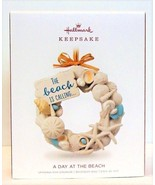2018 Hallmark Keepsake Christmas Ornament A Day At The Beach Wreath - $34.90