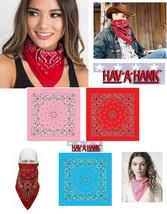 HAV-A-HANK PAISLEY Cotton BANDANA SCARVE Head WRAP SCARF Hanky Hankie BA... - $6.99