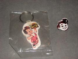 Frisch's Big Boy Key Chain Ring & Plastic Ring [VINTAGE] - $12.00