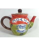 Ceramic Coffee Caffe Mocha Decorative Pot Teapot - $19.95
