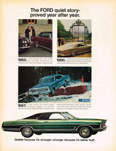 Vintage 1967 Magazine Ad Ford Quieter Because Its Stronger Because Better Built - $5.93
