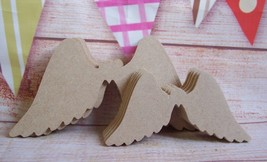 5x 4mm MDF Angel Wings Starts at  150mm Craft Blank   - $3.73+