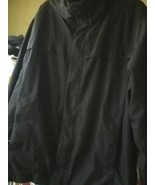 Calvin Klein BLACK insulated L XL 4 pockets 1 zippered Water wind RESISTANT - $17.77