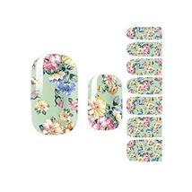 Flora Nail Decals Colorful Nail Wrap Nail Art Sticker Decoration, Set of 3