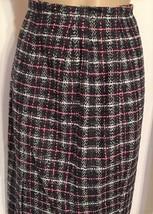 Ann Taylor Loft Pink Black & White Plaid Above Knee Career skirt 6 NEW - $29.95