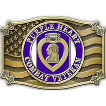 United States American PURPLE HEART,VETERAN Belt Buckle - $18.76