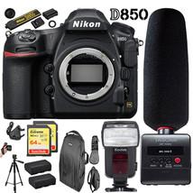 Nikon D850 DSLR Camera w/ 64GB Tascam Audio Recorder Deluxe Bundle - $3,447.35