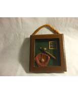 Shabby Chic Rustic Baseball Frame Wooden Rustic Home Decoration - $3.91
