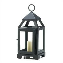 Black Mini Contemporary Metal Candle Lantern - $9.91