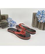 Tory Burch Minnie Grenadine Tory Navy Rubber Flip Flop Sandals 6 NIB - $93.56