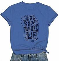 DUTUT Beer Never Broke My Heart Shirt Women  Summer Short Sleeve T shirt  image 2