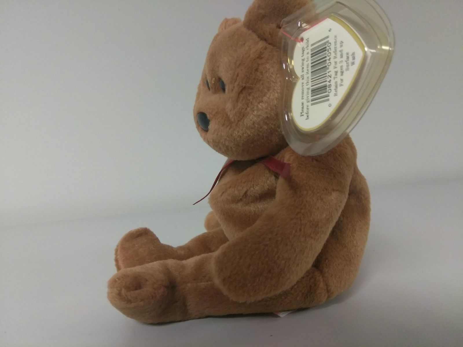 1st Edition TY Beanie Babies Rare Teddy no stamp, PVC and style line image 2