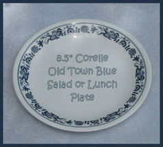 Retired Corelle Old Town Blue Lunch/Salad Plate  - $5.00