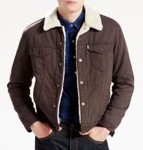 NEW LEVI'S MEN'S PREMIUM BUTTON UP FLANNEL SHERPA TRUCKER JACKET 163650015