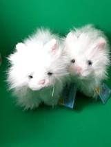Lot of 2 Retired Ganz Webkinz White Persian Cat Plush Kitten HM110 Sealed Code  - $17.82