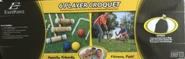 6 Player Croquet Set With Deluxe Carry Bag Wood Outside Yard Family Fun ... - $68.59
