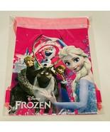 Disney Frozen Elsa with friend Pink Drawstring Bag School Backpack - $14.84