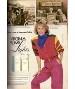 1984 Virginia Slims Cigarettes Magazine Print Advertisement Ad Vintage 1... - $11.89