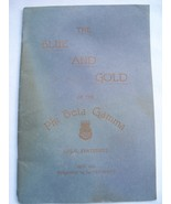 Blue & Gold Of The Phi Beta Gamma Legal Fraternity June 1926 - $14.99
