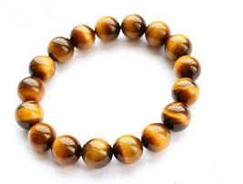 Free Shipping - perfect Natural Yellow  tiger eye STONE Prayer Beads charm brace - $25.99