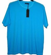 Z Zegna AUTHENTIC Men's Blue Dots Cotton T-Shirt Shirt Sz XL $275 - $150.43