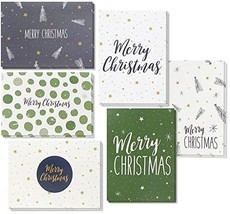 48 Pack of Christmas Winter Holiday Family Greeting Cards Green and (Rus... - £28.78 GBP