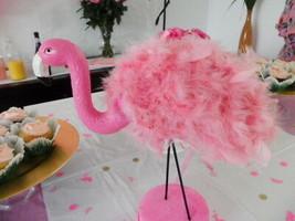 Flamingo Centerpiece / Cake Topper / Table Decor/ Flamingo Party/ Birthday - $12.86