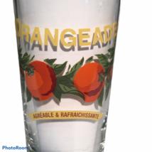 "WILLIAMS SONOMA Harvest Market Flat Glass Tumbler Orangeade RARE ""Agréab... - $40.08"