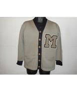 Vintage 40s 1949 Moravian College Pennsylvania Cardigan Letterman Sweate... - $499.99