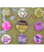 9 Green Recylce Button Lapel Pins- Trend Pins BRAND NEW - $3.99