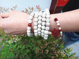 Free Shipping -  Tibetan Buddhism 100%  Natural white Bodhi Seeds Mala  Meditati - $30.00