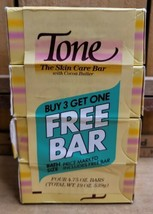 4 Vintage 1980s Tone Skin Care Bar Soap Cocoa Butter Yellow Colour 4.75 ... - $32.66