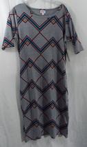 Womens LuLaRoe Dress Julia L Grey Burgundy Teal NWT - $44.59