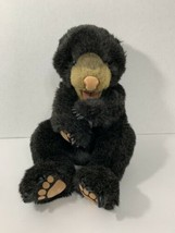 Folkmanis black bear cub baby hand plush puppet - $26.72