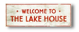 Rustic Wooden Sign - Welcome To The Lake House - Lake Sign 9 x 25  Item ... - $38.00