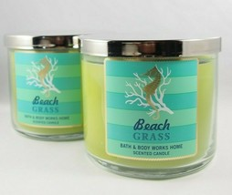 (2) Bath & Body Works Beach Grass 14.5oz 3-wick Scented Candle New - Ret... - $49.48