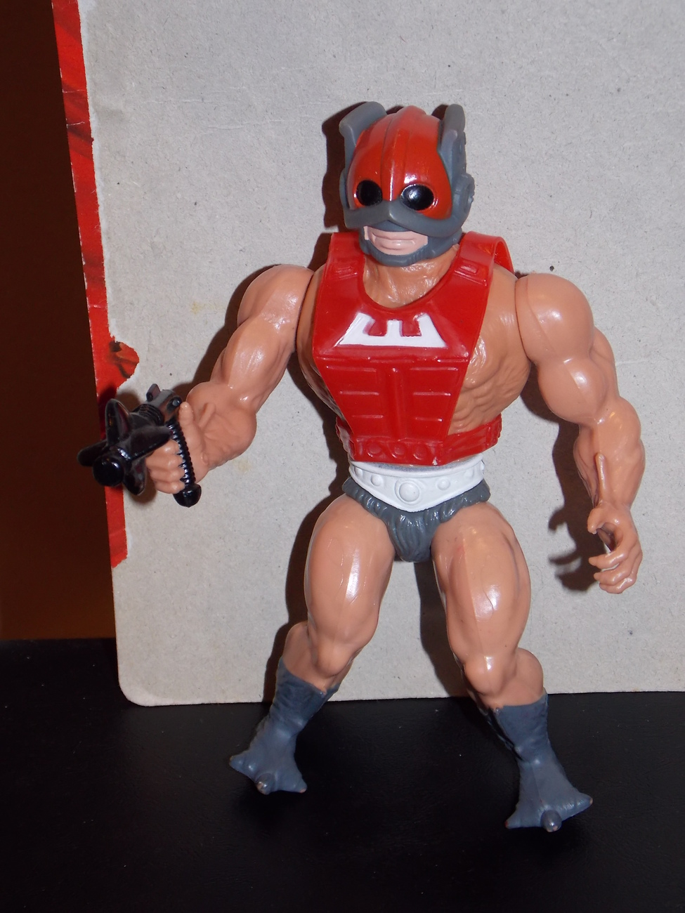 Vintage 1982 Masters Of The Universe Zodac Figure With Weapon and Cardback