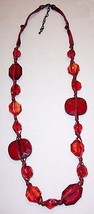 JOAN RIVERS Ruby Red Graduated Faceted Bead Necklace - $19.75