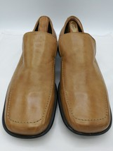 Alfani Men's Loafers Brown Leather Slip On Shoes Size 11M Made in Italy - $34.64