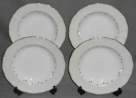Set (4) Mikasa Bone China WILDBERRY PATTERN Rimmed Soup Bowls MADE IN JAPAN - $29.69